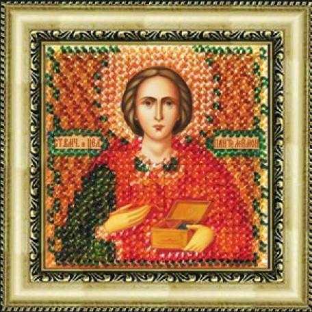 Набор для вышивания Вышивальная мозаика арт. 022ПМИ.Св.Пантелеймон 6,5х6,5см