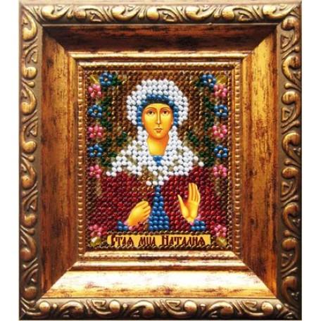 Набор для вышивания Вышивальная мозаика арт. 025ПИ.Икона Св.Муч.Наталия(путная) 6х7см