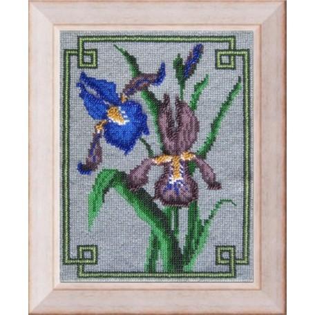Набор для вышивания Вышивальная мозаика арт. 026ЦВ.Ирисы.Набор д/выш.бисером 18,5х24см