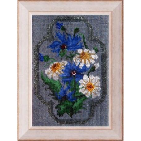 Набор для вышивания Вышивальная мозаика арт. 027ЦВ. Полевые цветы.Набор д/выш.бисером 16х24см