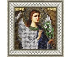 Набор для вышивания Вышивальная мозаика арт. 030ПМИ.Св.Архангел Гавриил 6,5х6,5см