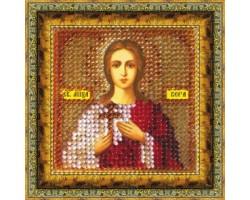 Набор для вышивания Вышивальная мозаика арт. 047ПМИ.Св.Мученица Вера 6,5х6,5см