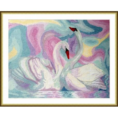 Набор для вышивания арт.ВЫШ -Ж-04 'Лебеди' 40x30 см