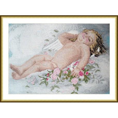Набор для вышивания арт.ВЫШ -К-03 'Спящий ангелок' 31x21 см