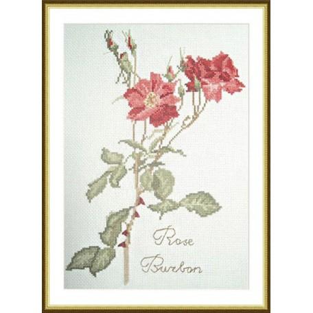 Набор для вышивания арт.ВЫШ -К-13 'Роза бурбон' 17x26 см