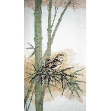 Набор для вышивания арт.ВЫШ -В-02 'Птицы на Бамбуке' 18,5x35 см