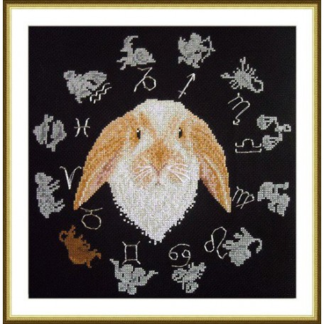 Набор для вышивания арт.ВЫШ -ВГ-02 'Год кролика' 27x27 см
