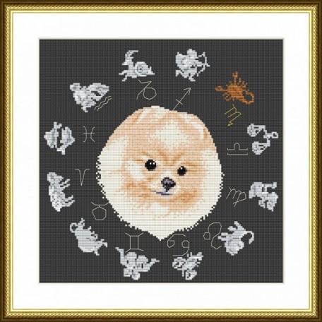 Набор для вышивания арт.ВЫШ -ВГ-05 'Год собаки' 27х27 см