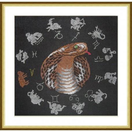 Набор для вышивания арт.ВЫШ -ВГ-08 'Год змеи' 27x27 см