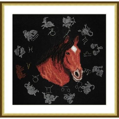 Набор для вышивания арт.ВЫШ -ВГ-09 'Год лошади' 27x27 см