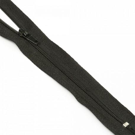 Молния пласт. юбочная с кордом №3 18см цв. F322 черный
