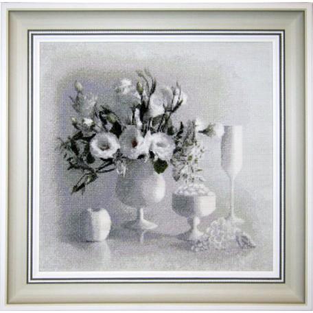 Набор для вышивания 'Юнона' арт.0104 'Белый натюрморт' 36х35см