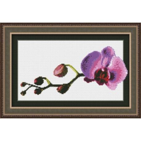 Набор для вышивания 'Юнона' арт.0108 'Маленькая орхидея' 23,5х14,5см