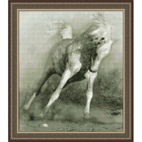 Набор для вышивания 'Юнона' арт.0111 'Белый конь' 28х32см