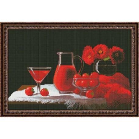 Набор для вышивания 'Юнона' арт.0115 'Красный натюрморт' 37х24,5см