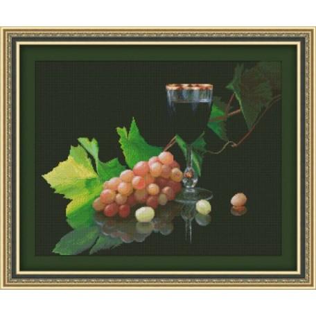 Набор для вышивания 'Юнона' арт.0124 'Виноград и вино' 41,5х33см