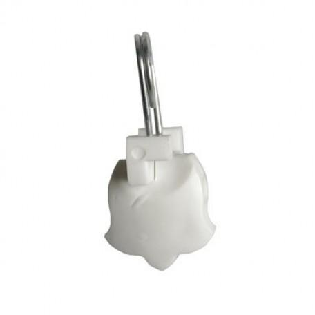 Зажим шторный арт.ВОС С-117 пластмассовый цв.белый/никель