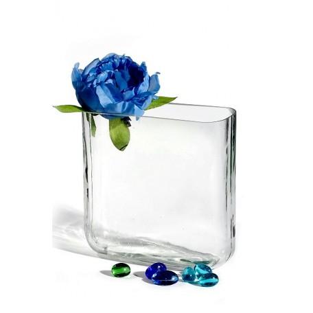 Ваза для композиций плоская (стекло) арт.BL1011005 Клео 1 16х16х6см