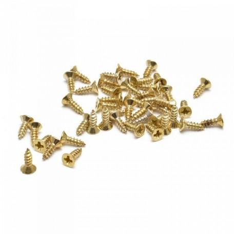 SKM-004 Шуруп для крепления декоративных элементов 8 мм, золото (10 гр)