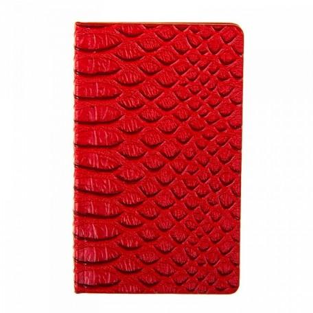 СЛ.233625 Ежедневник Крокодил красный недат. А6 80л лин.