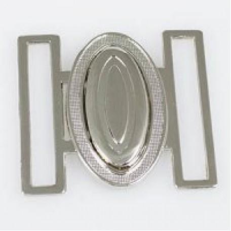 Застежка металлическая арт.TBY- 70005 40 мм цв.никель