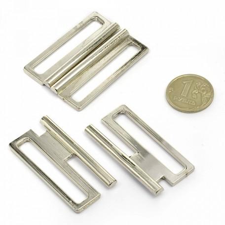 Застежка металлическая арт.TBY- 12900 40 мм цв.никель