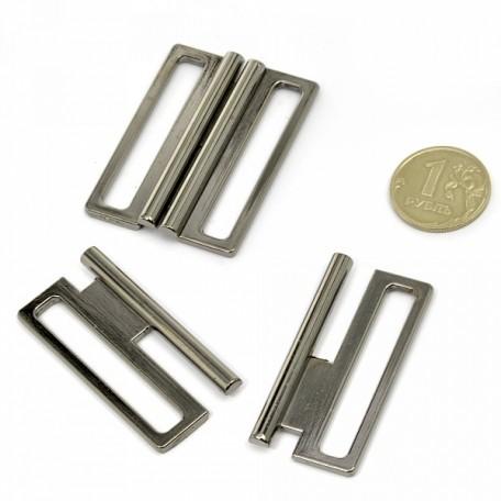 Застежка металлическая арт.TBY- 12900 40 мм цв.т.никель