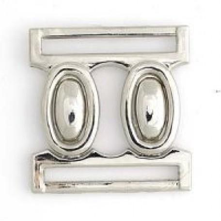 Застежка металлическая арт.R70011 30 мм цв.никель