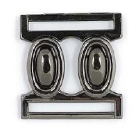 Застежка металлическая арт.R70011 30 мм цв.т.никель