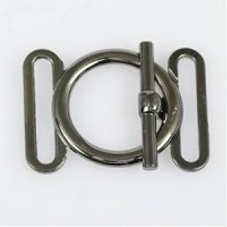 Застежка металлическая арт.TBY- 12322 30 мм цв.т.никель