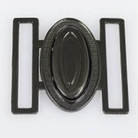 Застежка металлическая арт.TBY- 70005 40 мм цв.т.никель