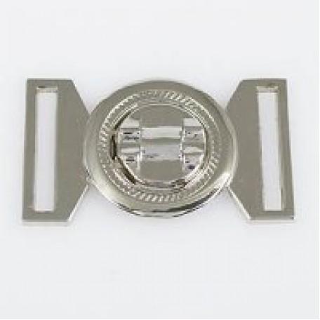 Застежка металлическая арт.TBY- 70013 25 мм цв.никель
