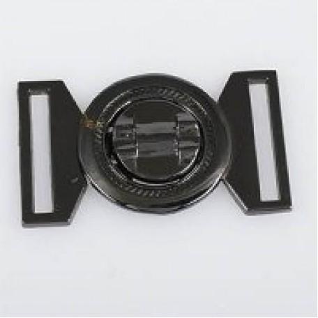 Застежка металлическая арт.TBY- 70013 25 мм цв.т.никель