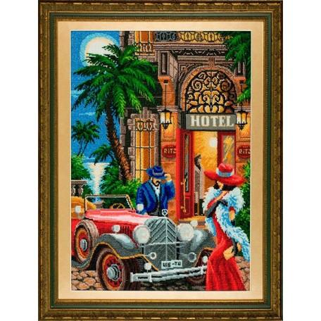 Набор для вышивания бисером 'Золотые Ручки' арт. ГП-002 'Монте-Карло' 40х57 см