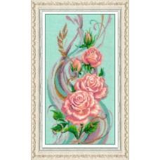 Набор для вышивания бисером 'Золотые Ручки' арт. Ц-015 'Розы' 28х51 см