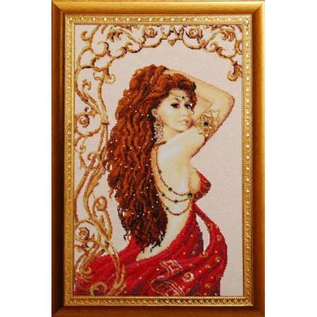 Набор для вышивания бисером 'Золотые Ручки' арт. В-001 'Лейла' 31x51 см