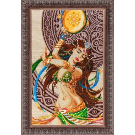 Набор для вышивания бисером 'Золотые Ручки' арт. В-002 'Азиза' 31x51 см