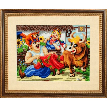 Набор для вышивания бисером 'Золотые Ручки' арт. ВГ-002 'Телец' 41х31 см