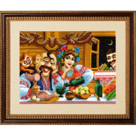 Набор для вышивания бисером 'Золотые Ручки' арт. ВГ-010 'Козерог' 40х30 см