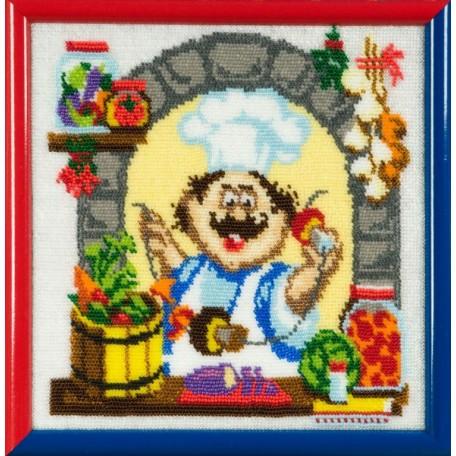 Набор для вышивания бисером 'Золотые Ручки' арт. ВК-003 'Соленья' 21x21 см