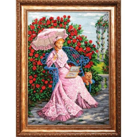 Набор для вышивания бисером 'Золотые Ручки' арт. ВВ-002 'В розовом саду' 47x65 см